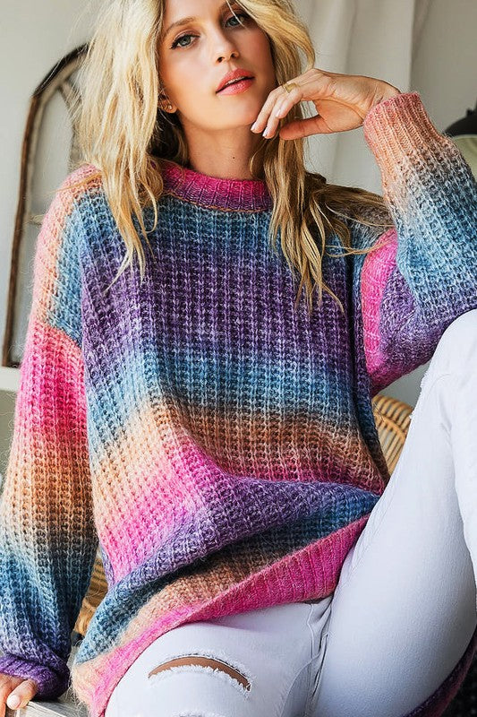 Fuschia Tie Dye Sweater