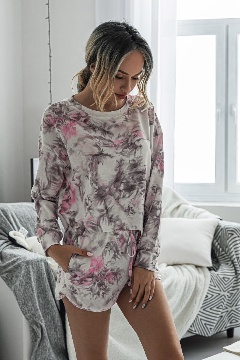Comfy Round Neck Print loungewear