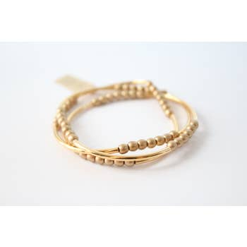 Triple Wrap Bracelet Collection (Gold and Gold RD)