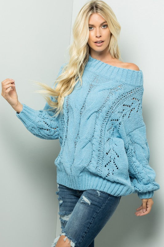 Cozy off the shoulder sweater
