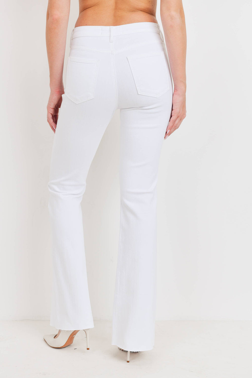 Just Black Denim | Optic White High Rise Flare