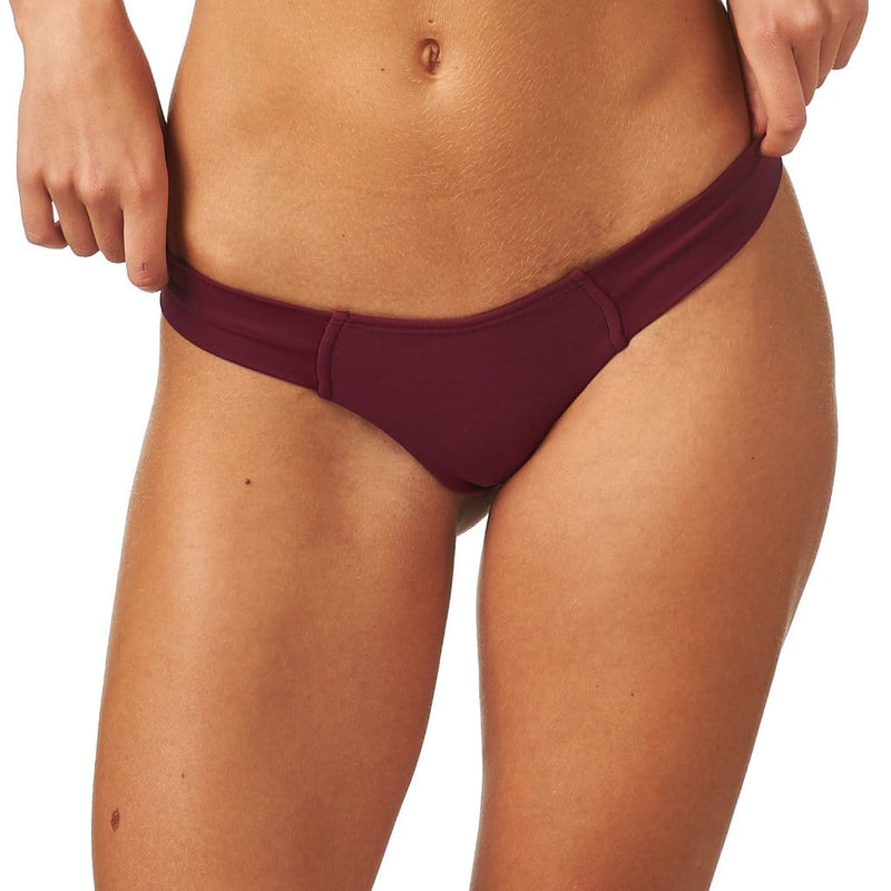 Maroon Additional Coverage Uno Bikini Bottom