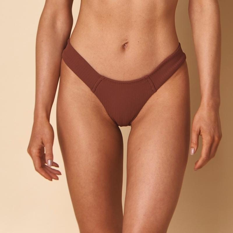 Chocolate Rib Added Coverage Uno Bikini Bottom