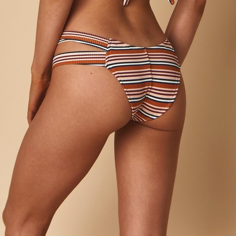 Donna Rib Added Coverage Seamless Euro Bikini Bottom