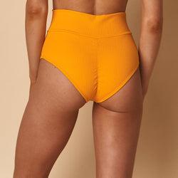 Mango Rib Added Coverage High Rise Bikini Bottom