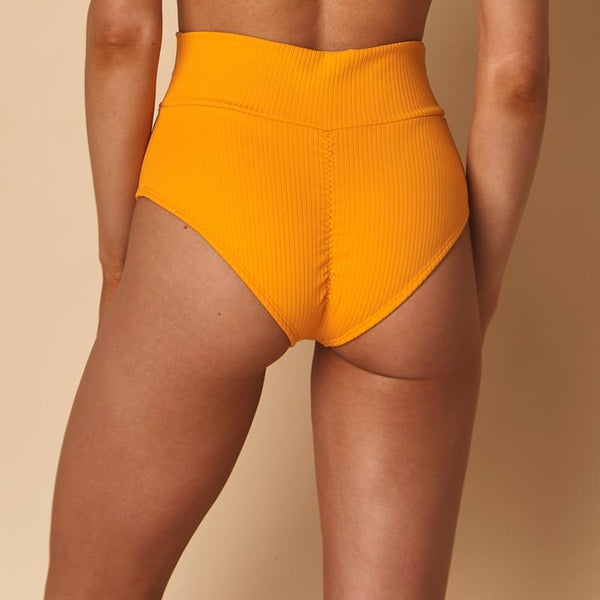 (PRESALE) Mango Rib Additional Coverage High Rise Bikini Bottom