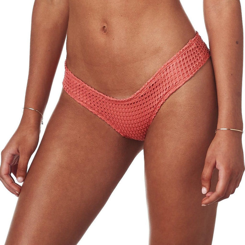 Coral Crochet Added Coverage Nu-Micro Bikini Bottom
