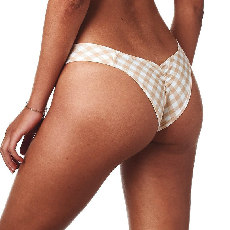Spring Gingham Added Coverage Uno Bikini Bottom