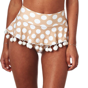 Polka Dot Pom Pom High Rise