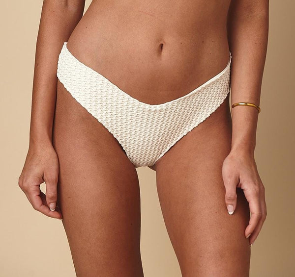 Bone Crochet Added Coverage Raw Edge Nu Micro Bikini Bottom