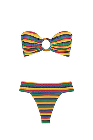 Caribbean Stripe Tori Top x Tamarindo Bottom Bikini Set