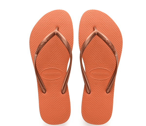 Burnt Orange Slim Sandals