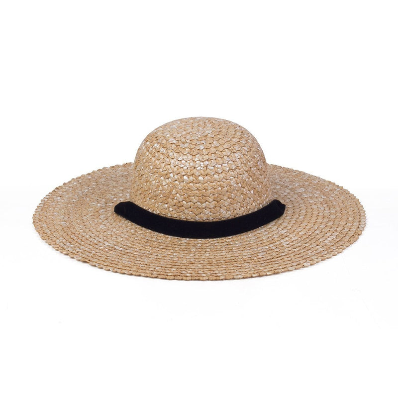 Dolce Sun Hat (Natural/Black Velvet)