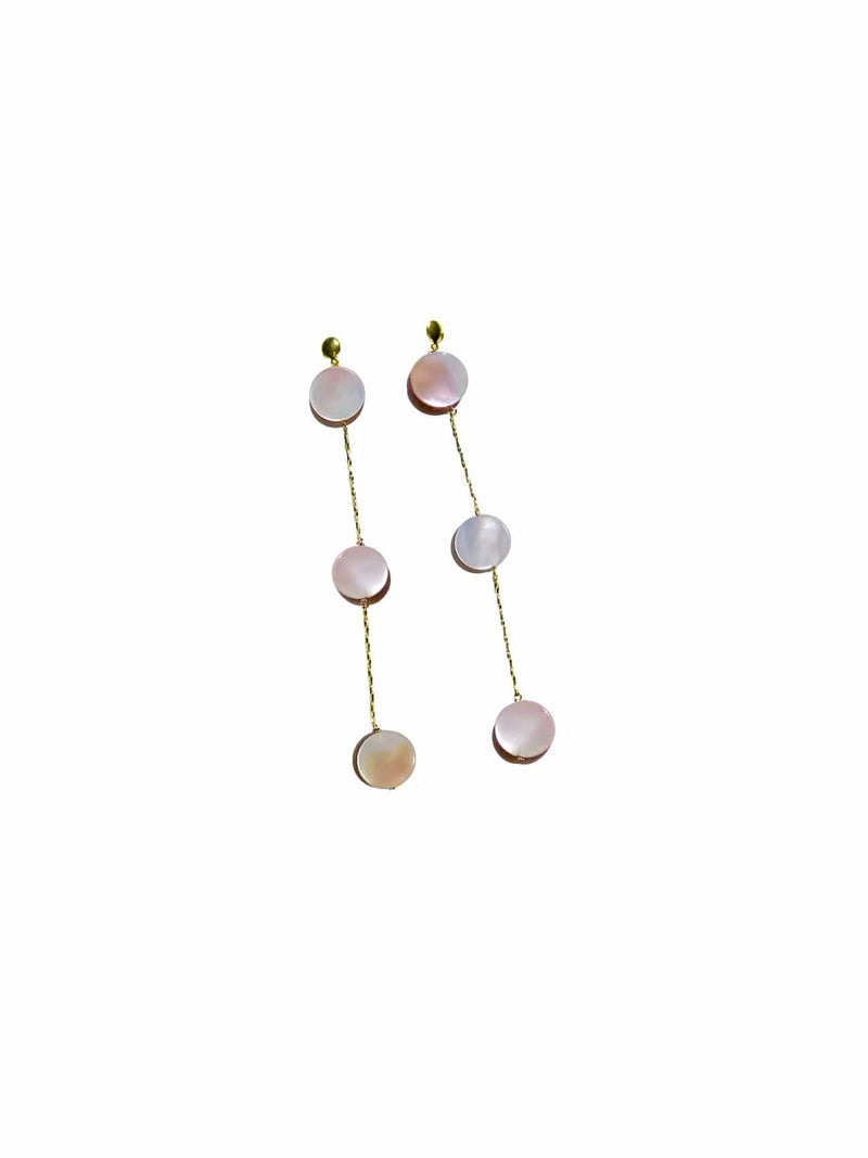 Pink Mother of Pearl Row Earrings