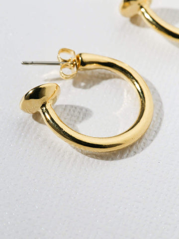 Gold Small Cecilia Hoops