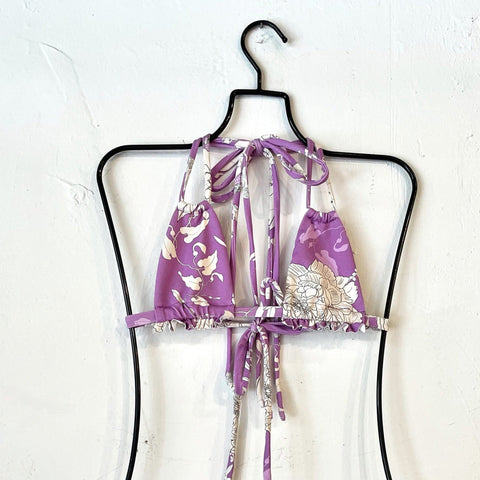 Purple Batik Solo Ruffle Top