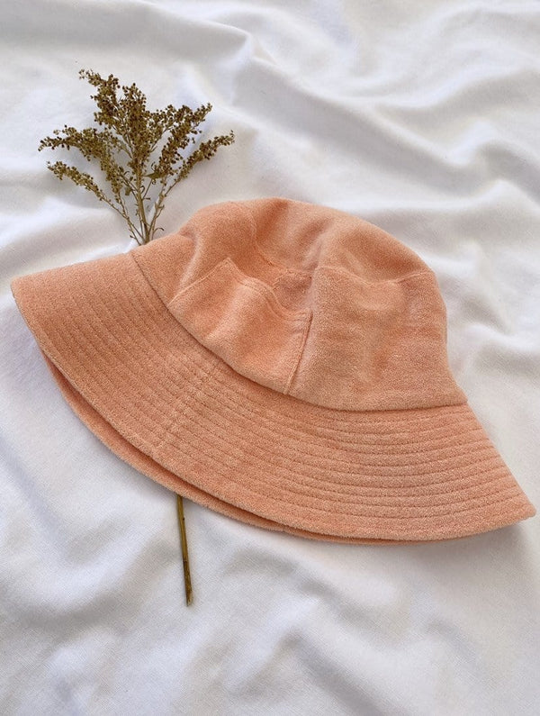 Wave Bucket Hat (Peach Terry)
