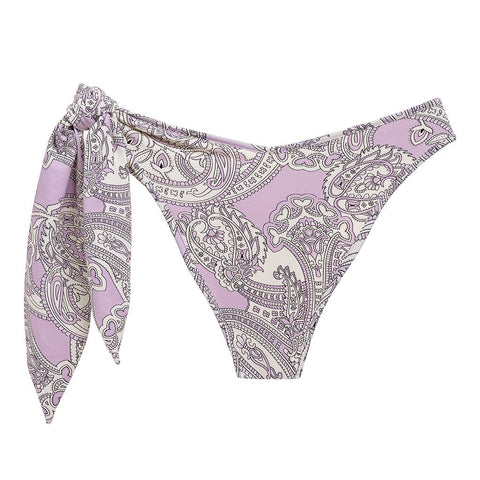 Lilac Paisley Lulu Removeable Tie