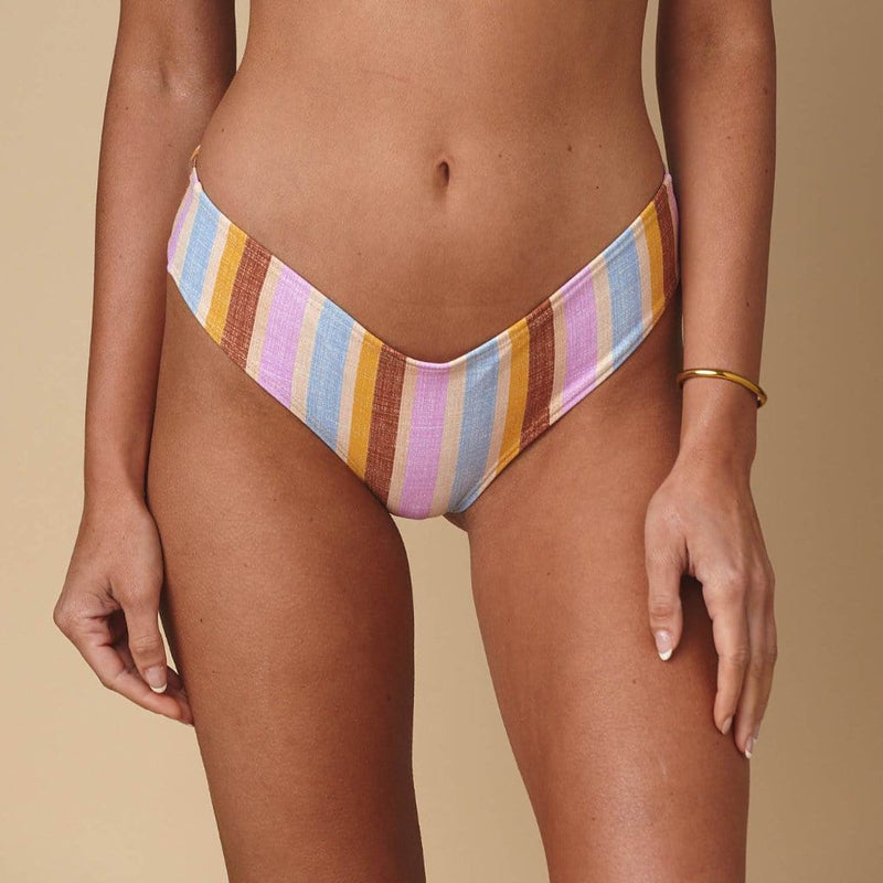 Mallorca Stripe Added Coverage Nu-Micro Bikini Bottom
