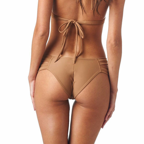 Cappuccino Added Coverage Euro Bikini Bottom