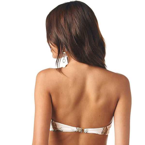 Cream Cheetah Repeat Bellini Bikini Top