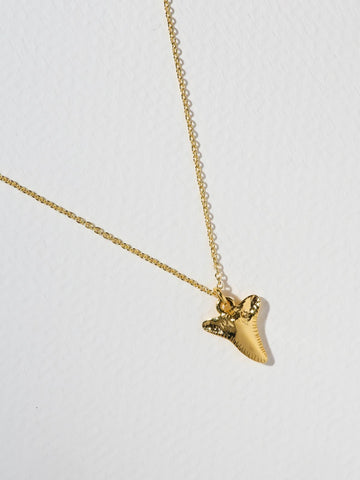 Gold Sharktooth Necklace