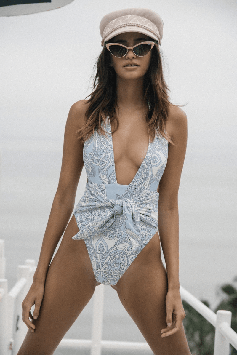 Peri Paisley Tropez Tie-Up One-Piece
