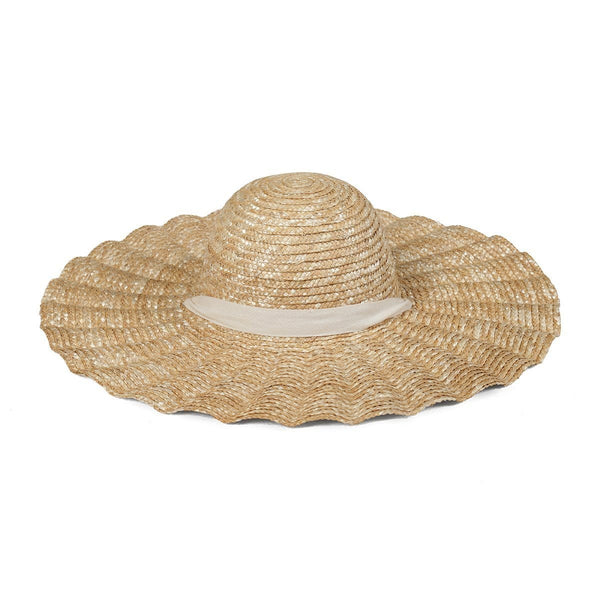 Scalloped Dolce Hat (Natural)