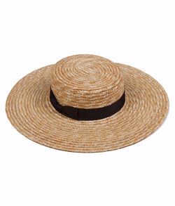 Spencer Wide Brimmed Boater Hat