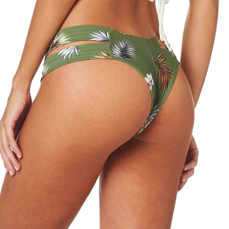 Plants On Green Euro Bikini Bottom