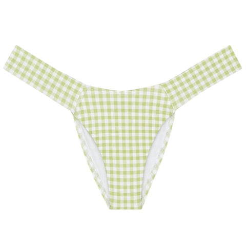 Vert Gingham Added Coverage Uno Bikini Bottom