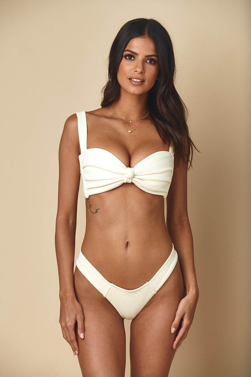 Cream Rib Hayden Top x Uno Bottom Bikini Set