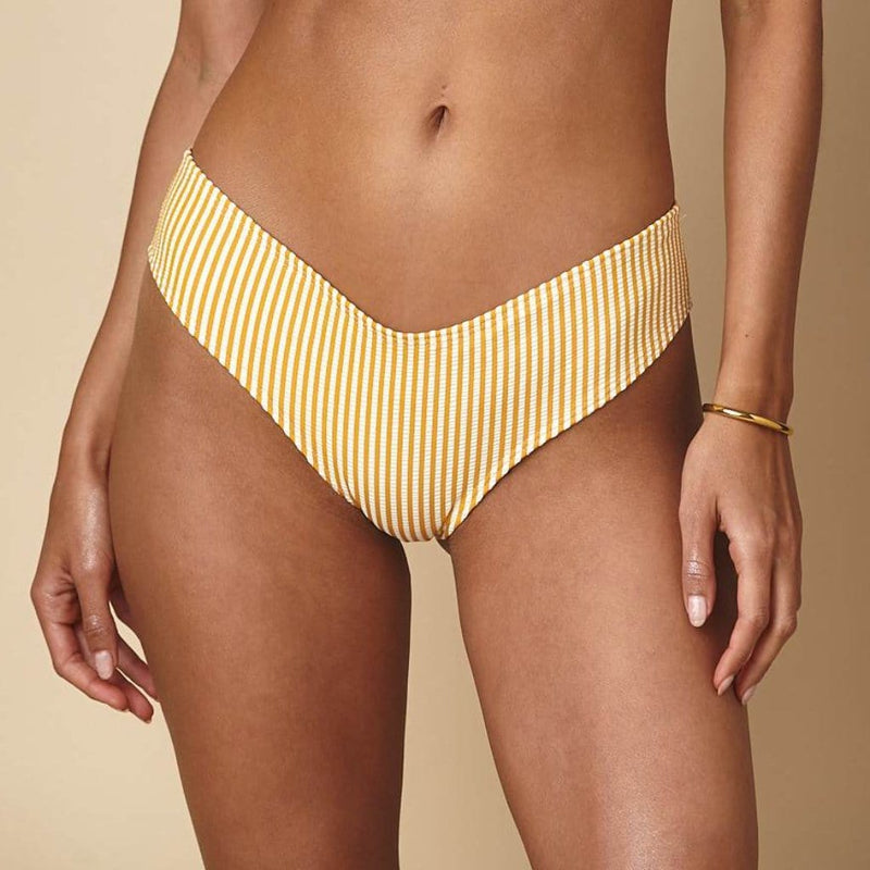 Canary Stripe Added Coverage Nu-Micro Bikini Bottom