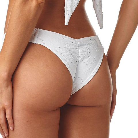 Eyelet Added Coverage Uno Bikini Bottom