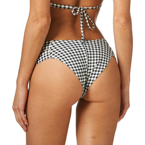 Gingham Additional Coverage Euro Bikini Bottom