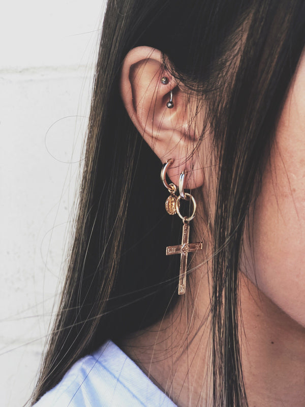 Gold Lady of Guadalupe Earrings
