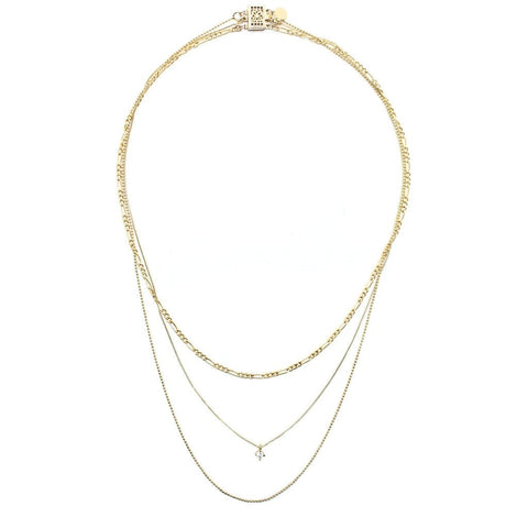 Gilded Layered Necklace- Gold
