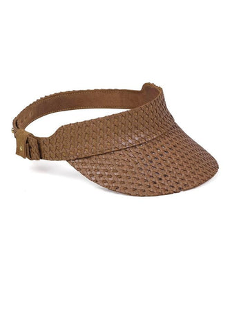 Tuscon Woven Visor (Light Brown)
