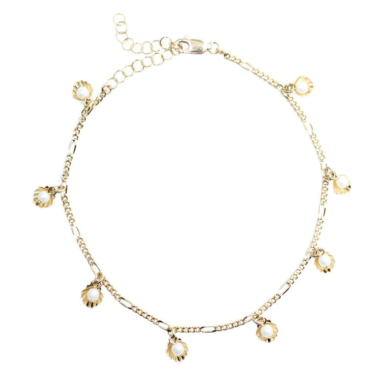 Gold Pinnidea Anklet