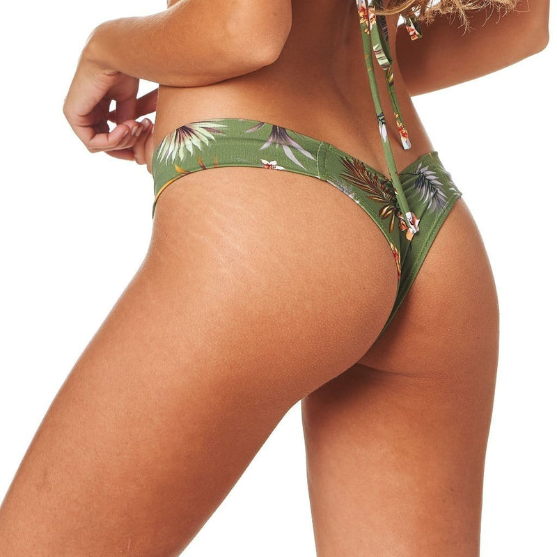 Plants On Green Uno Bikini Bottom