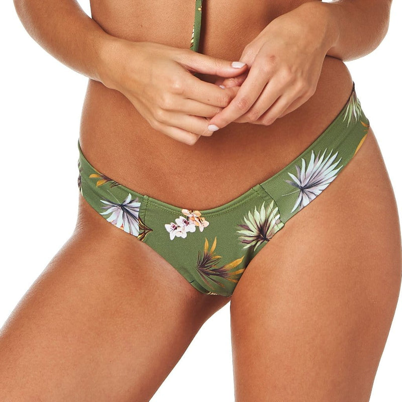 Plants On Green Added Coverage Uno Bikini Bottom