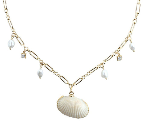 Pomona Shell Necklace- Gold