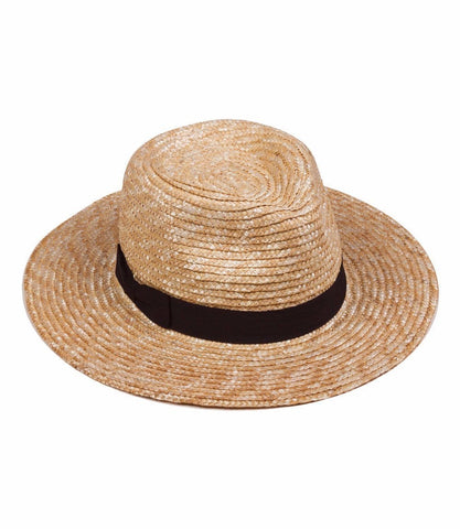 Spencer Fedora (Natural Straw/Black)