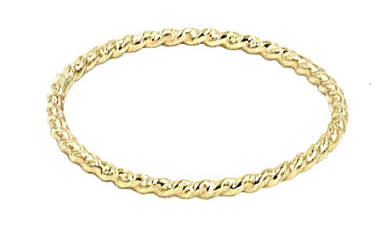 Gold Rope Stack Ring