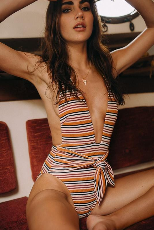 Donna Rib Tropez Tie-Up One-Piece