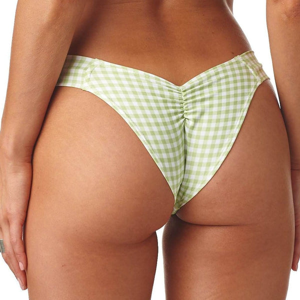 Vert Gingham Additional Coverage Uno Bikini Bottom