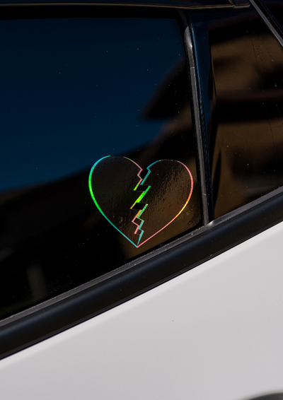 GLITCH HEART (OIL SLICK)