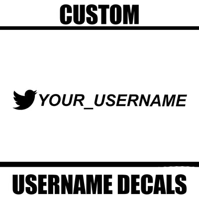 Custom Twitter Username Decal