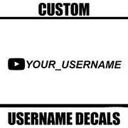 Custom Youtube Username Decal