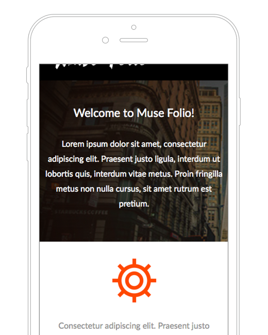 adobe muse mobile templates - muse folio business adobe muse template by